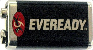 "Eveready 1222 9 Volt Super Heavy Duty Battery, Bulk Pack, Dated ""9-2017"""