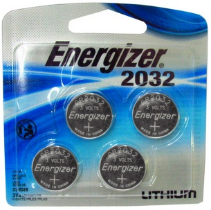 Energizer 2032 3 Volt Lithium Coin Battery, 4 Pack Card