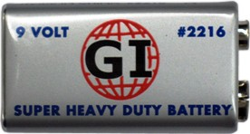 G.I. Batteries 9 Volt Super Heavy Duty Battery