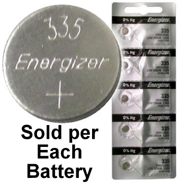 Energizer Batteries 335 (SR512SW) Silver Oxide Watch Battery. On Tear Strip