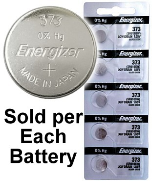 Energizer Batteries 373 (SR916SW) Silver Oxide Watch Battery. On Tear Strip