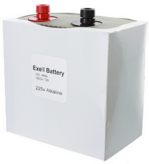 Exell 489A Alkaline 225V Battery NEDA 728 Non Rechargeable