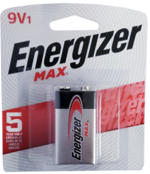 Energizer USA Max Batteries 522 9 Volt Alkaline Battery Carded