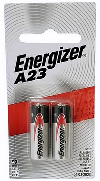 Energizer A23 12 Volt Alkaline Battery 2 On Blister Card