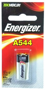Energizer A544BP Alkaline Battery PX28A & 4LR44 Carded, 3-2020 Date