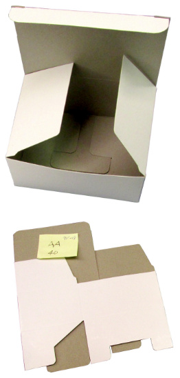 Cardboard Box for AA-40, 18-9V, 12-C, or 50-CR2 Batteries
