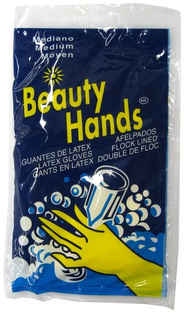 Beauty Hands Dish-Washing Rubber/Latex Gloves, Medium Size