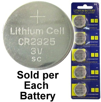 CR2325 3V Lithium Coin Cell, on Card