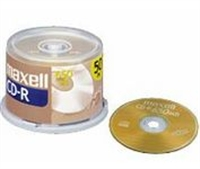 Maxell CDR-80 DATA Blank Data CDR 50-pack