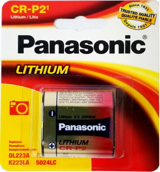 Panasonic CRP2 (223A) Lithium 6 Volt Photo Power Battery Carded, Dated 2028