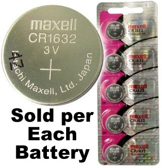 Maxell Hologram CR1632 3 Volt Coin Lithium Cell, On Tear Strip. Exp. 2022