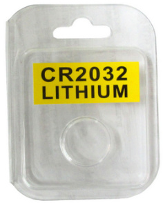 Plastic Clamshell with Label for One CR2032 Battery - 3200 per Carton