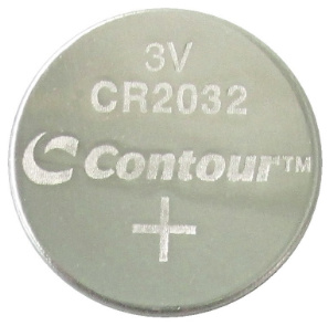 Contour CR2032 Coin Lithium Battery, Bulk Pack in Tray