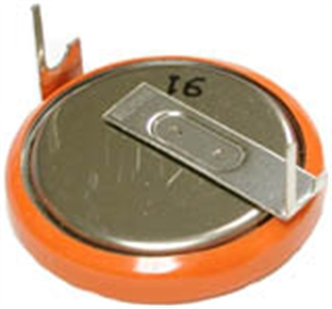 Sanyo CR2032-T14-1 3 Volt Lithium Coin Battery W/2 Pin Pc, 20mm Spread # CR2032-T14-1