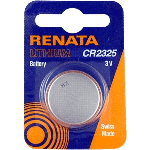 Renata Batteries CR2325 3V Lithium Coin Battery Carded. Exp. 3-2023