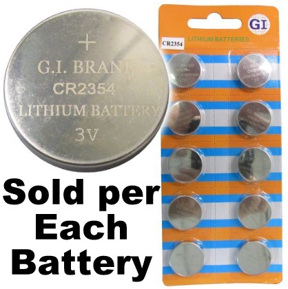 GI Batteries CR2354 Coin Lithium Battery, On Tear Strip