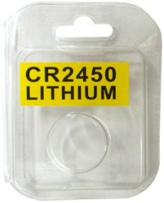Plastic Clam Shell with Label for One CR2450 Battery - 3200 per Carton