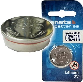 Renata CR2477N 3 Volt, 950mAh, Lithium Coin Battery, On Tear Strip