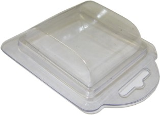 Plastic Clamshell with Label for 2 D-Size Batteries - 2,800 per Case