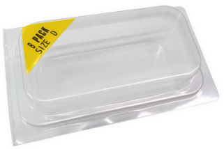 Plastic Clamshell with Label for 8 D Batteries - 600 per Case