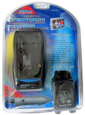 Universal Camcorder Lithium-Ion Battery Quick Charger