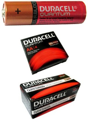Duracell AA Quantum Alkaline Battery AA - Made in USA