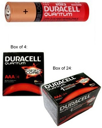 Duracell AAA Quantum Alkaline Battery, Boxed AAA - Made in USA