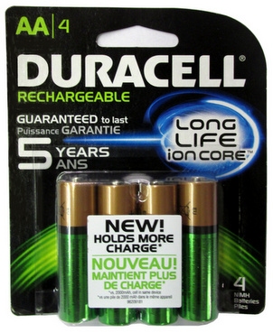 canadian tire duracell rechargeable precharged 2400mah. Black Bedroom Furniture Sets. Home Design Ideas