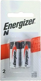 Energizer USA E90 N Size Alkaline Battery 2 On A Blister Card