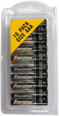 Energizer E92 AAA Size, Made in USA, 10 Pack - Hang Up AAA