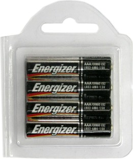 Energizer E92AAA Alkaline 4 Pack, Made in USA in Reusable Plastic Pack. 2016 Date AAA