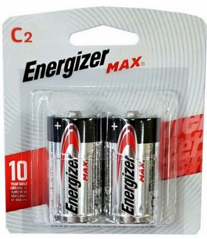 Energizer USA Max Batteries E93 C Size Alkaline Battery 2 Pack Carded