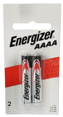 Energizer E96 AAAA Alkaline Battery 2 Pack Carded
