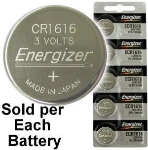 Energizer ECR1616 (CR1616) Lithium Coin Cell , On Tear Strip