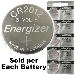 Energizer ECR2012 (CR2012) Lithium Coin Cell, On Tear Strip