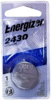 Energizer ECR2430 (CR2430) Lithium Coin Cell, 1 on Card, Dated 3-2026