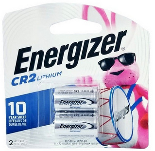 Energizer CR2 Lithium 3 Volt 2-Batteries Carded 2026 #EL1CR2BP2