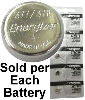 Energizer 377 / 376 (SR626W, SR626SW) Silver Oxide Watch Battery. On Tear Strip