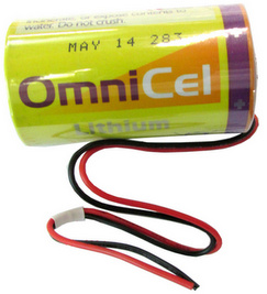 Omnicel ER34615, D Size, 3.6 Volt 19Ah Lithium Battery, with Wire Leads