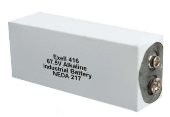 Exell Batteries 416A (NEDA 217, A416, ER-416) 67.5V Alkaline Battery