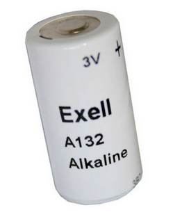 Exell Battery 132A (TR132A, 2LR50, E132, PC132) 3 Volt 600mAh Alkaline Battery