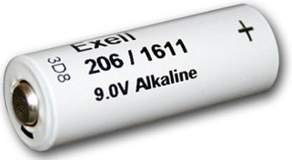 Exell Batteries 206A (NEDA 1611 - 206/1611) 9V, 200mAh Alkaline Battery