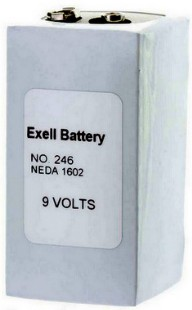 Exell Battery 246 9V, 1200mAh Alkaline (NEDA 1602), Replaces Eveready PP6