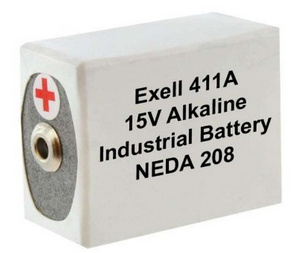 Exell Batteries 411A (NEDA 208, 10F20, BLR121 ) 15V Alkaline Battery