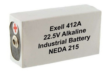 Exell Batteries 412A (NEDA 215, 15F20, BLR122  ) 22.5V Alkaline Battery