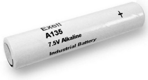 Exell Battery A135 (5LR50, PC135A) 7.5 Volt 600mAh Alkaline Battery