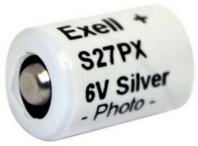 Exell Battery S27PX, V27PX, 6 Volt, Silver Oxide