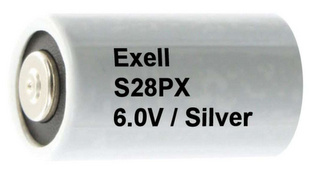 Exell Batteries S28PX 6V Silver Oxide Button Battery