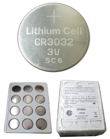 GI Batteries CR3032 Coin Lithium Battery, On Tray Pack