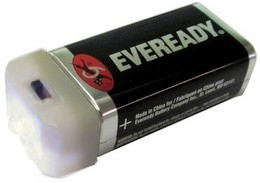 GI 9V Compact, Ultra Bright 3 LED Flashlight with Eveready Battery